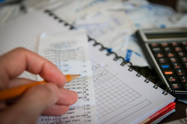 Notowanie, paragon, kalkulator